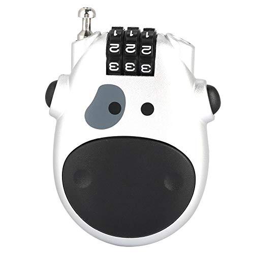 Tonysa Code Lock Schöne Kuhform, 3-stellige Code-Kombination Kinderwagenschloss Kinderwagen Kinderwagen Passwort Sicherheit Codeschloss(Silber-)