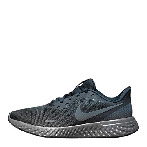 Nike Revolution 5, Scarpe da Corsa Uomo, Multicolore (Black Anthracite University Red White 003), 44.5 EU