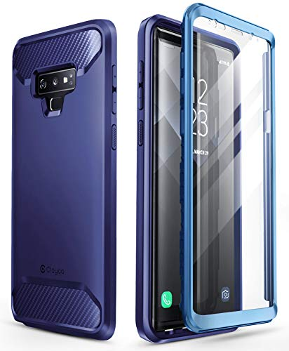 Samsung Galaxy Note 9 Case, Clayco [Xenon Series] Full-Body Rugged Case with Built-in 3D Curved Screen Protector for Samsung Galaxy Note 9 (2018 Release) (Blue)