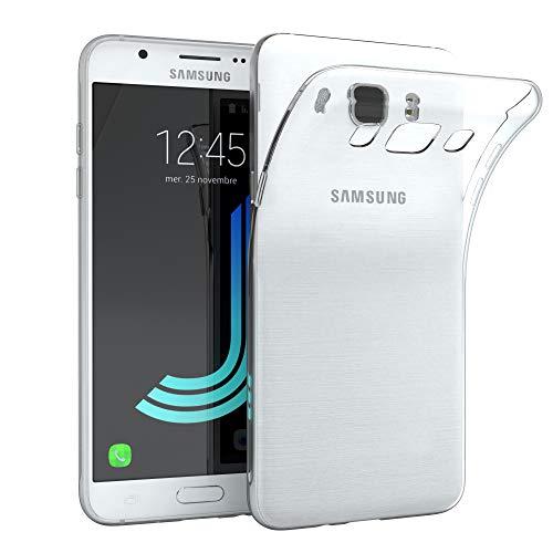 EAZY CASE Hülle kompatibel mit Samsung Galaxy J5 (2016) Schutzhülle Silikon, Ultra dünn, Slimcover, Handyhülle, Silikonhülle, Backcover, Durchsichtig, Klar Transparent