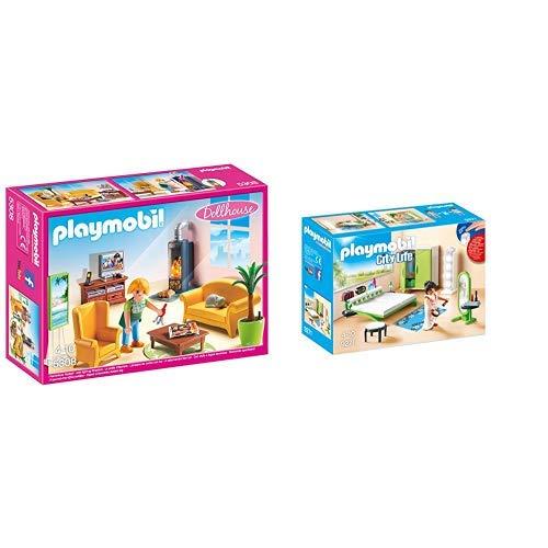 Playmobil 5308 - Wohnzimmer mit Kaminofen &  9271 - Schlafzimmer