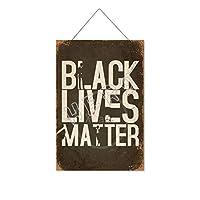 ブラックライブ(6)木製のリストプラーク木の看板ぶら下げ木製絵画パーソナライズされた広告ヴィンテージウォールサイン装飾ポスターアートサイン