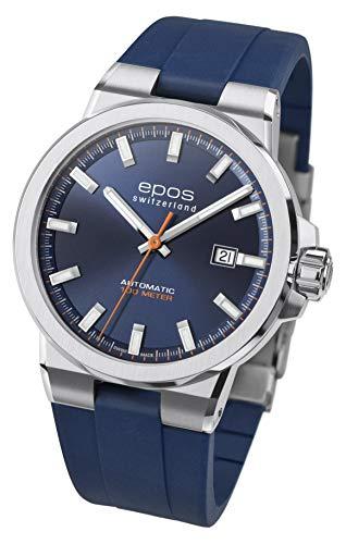 Epos Sportuhr 3442, Herren, Automatik, Analog - 411152.1 - (blau)