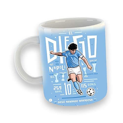 nessuna marca Maradona Tazza Mug 2 Collezione Personaggi Decorazioni Idea Regalo Colazione D10S Calcio Napoli Argentina Boca Juniors Barcelona El Pibe de Oro La Mano de Dios