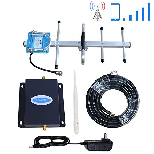 Cell Phone Signal Booster Verizon 4G LTE Band13 700Mhz Cell Phone Booster Verizon Mobile Phone Signal Booster Phonelex Cell Signal Amplifier Repeater with Indoor Whip+ Outdoor Yagi Antennas for Home