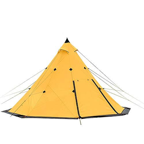 Gele Piramide Tent 3 Personen 4 Mensen Camping Winddicht Regenstorm Park Outdoor Camping Oversized Eenvoudige Tent Outdoor Uitrusting Zwembed