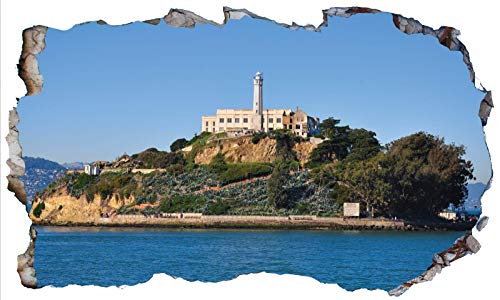 Chicbanners Alcatraz Prison USA V102 - Adhesivo decorativo para pared (1000 mm de ancho x 600 mm de profundidad)