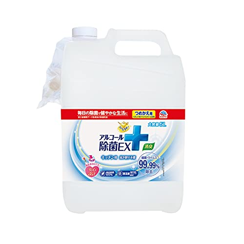 らくハピ アルコール除菌EX [つめかえ 大容量 5L]