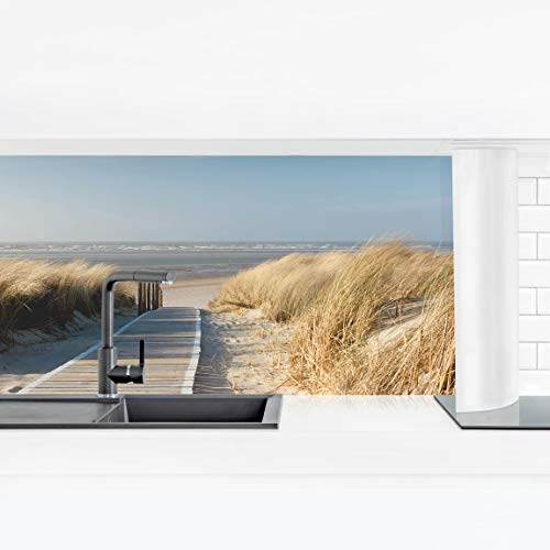 Bilderwelten Küchenrückwand Panorama Folie selbstklebend - Ostsee Strand Premium 80 x 280 cm
