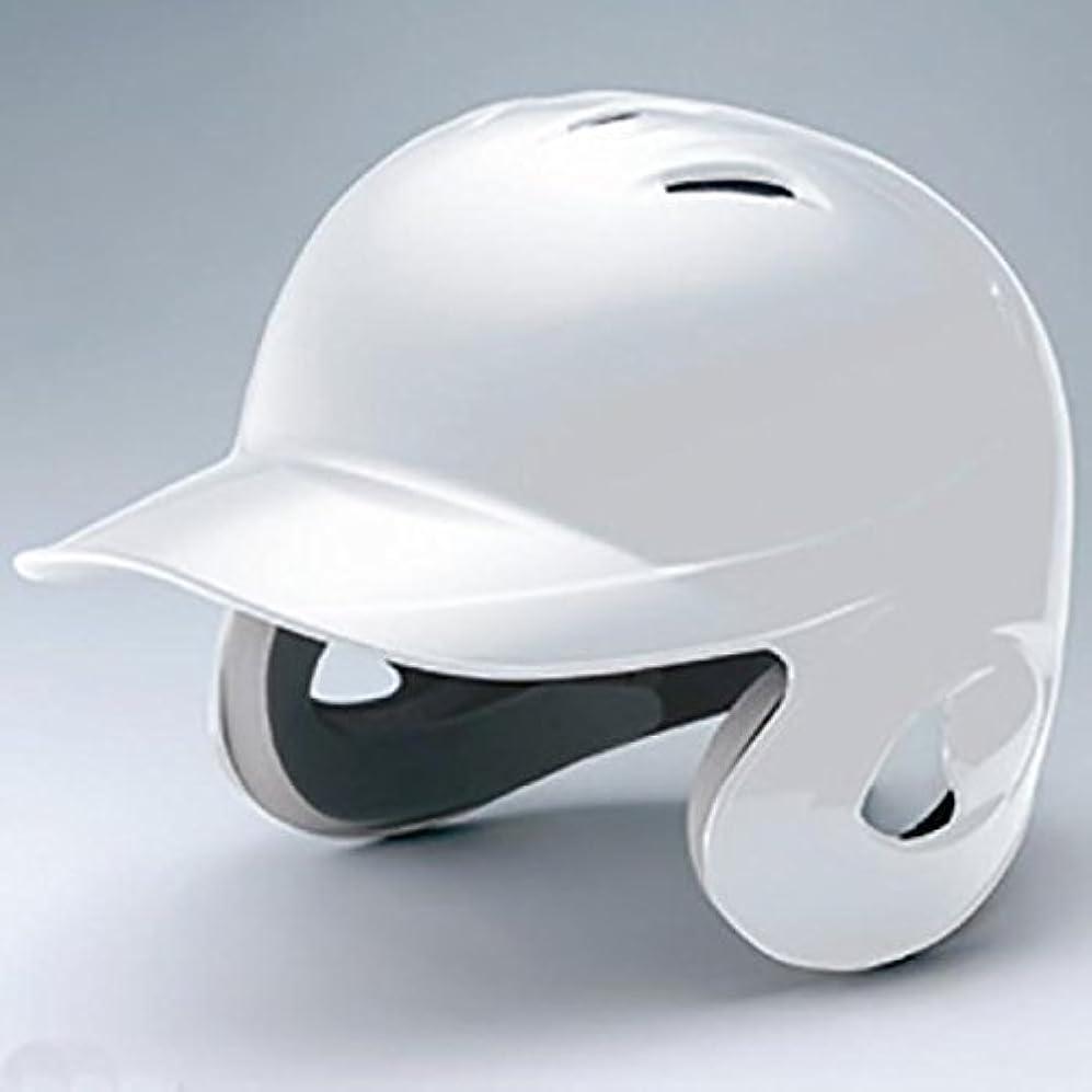 微視的ピルファーパワーミズノ 少年 ジュニア 軟式用 ヘルメット 両耳付 打者用 1DJHY101 ホワイト(01) L