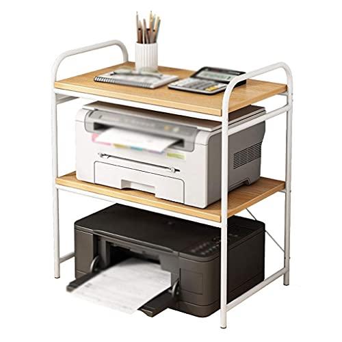 GAXQFEI Impresora Soporte de Escritorio Impresora Soporte de 3 Capas Multifunción Multifunción Bastidor de Metal, Utilizado para la Mesa de Fax Del Dormitorio de Oficina Soporte de Suminis de Ofici