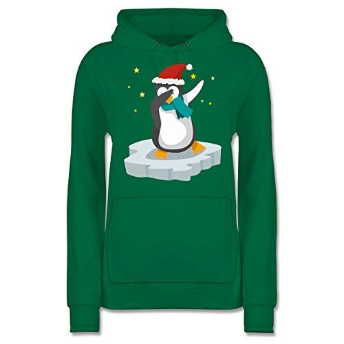 Weihnachten & Silvester - Dab Pinguin Weihnachten - M - Grün - dab Pinguin Weihnachten - JH001F - Damen Hoodie und Kapuzenpullover für Frauen
