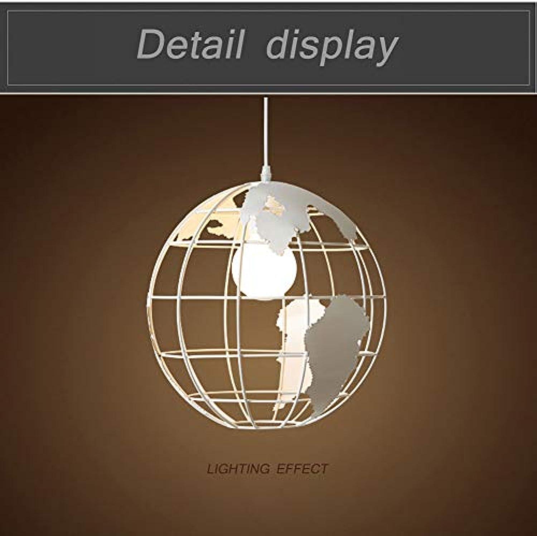 YinVinA Pendelmetall-Pendant Light, Industrial Metal Spherical Pendant Pendant Lights geometrische Pendant Leuchten für Home Decor,Weiß