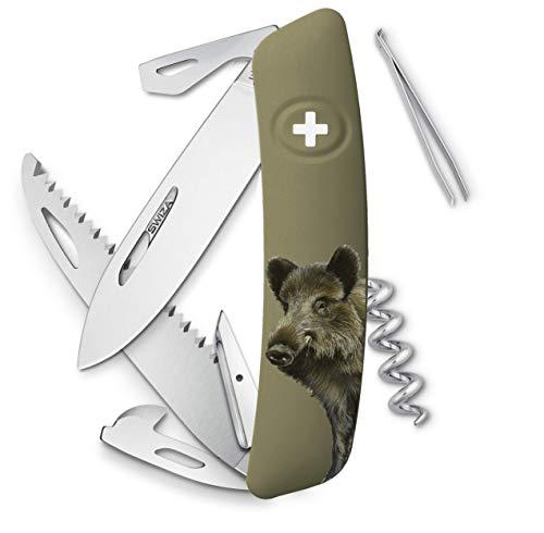 SWIZA D05 Sanglier Couteau Suisse Adulte Unisexe, 75mm