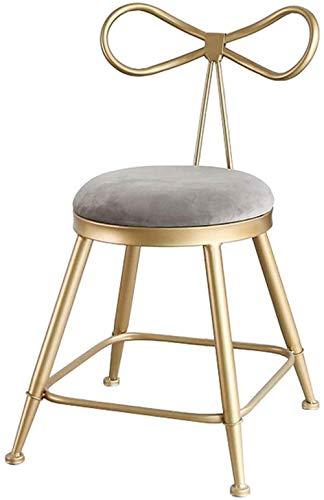 NYDZ Barhocker Stuhl Velvet On-Trend Küche und Frühstück Barhocker mit Rückenlehne Metallbeinen mit Fußstützen Weich gepolsterter Hoch Zähler Dining Chair (Size : 45cm)