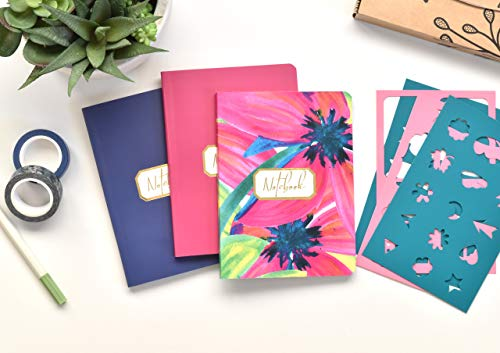 Pack 3 Bullet Journal A6 Cuaderno Punteados - Cuaderno de Tapa Flexible - Papel Grueso Premium 120gr (Rush)