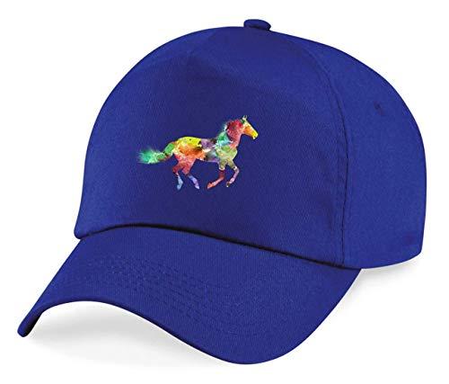 Druckerlebnis24 Cap - Pferd Bunte Pferd Gemalte - Basecap für Herren - Damen und Kinder