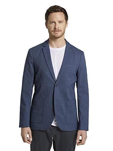 TOM TAILOR Herren Basic Sakko, 24123 - blazer structure blu, 52
