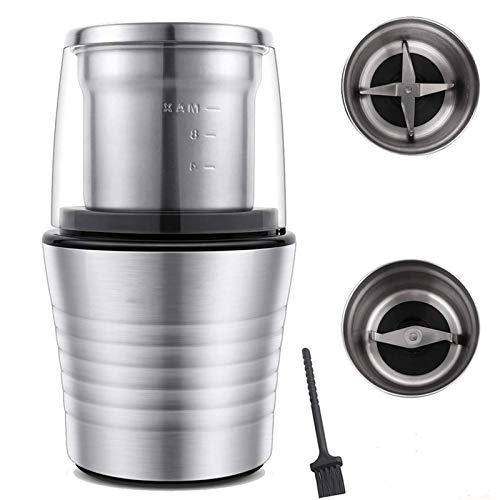 N / C Molinillo de café eléctrico Multifuncional, Material de Acero Inoxidable...