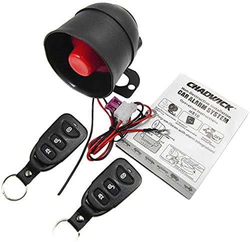 MYJZY Juego de Sistema de Alarmas de Automóvil Instalación no Destructiva, sin Recorte, Dispositivo Antirrobo Enchufable