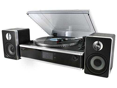 Soundmaster PL875USB Schallplattenspieler CD-MP3 USB SD MW UKW Radio Encodingfunktion (Aufnahme von Schallplatte, CD, Aux- In auf USB oder SD Karte)