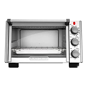 BLACK+DECKER 6-Slice Convection Countertop Toaster Oven Stainless Steel/Black TO2050S