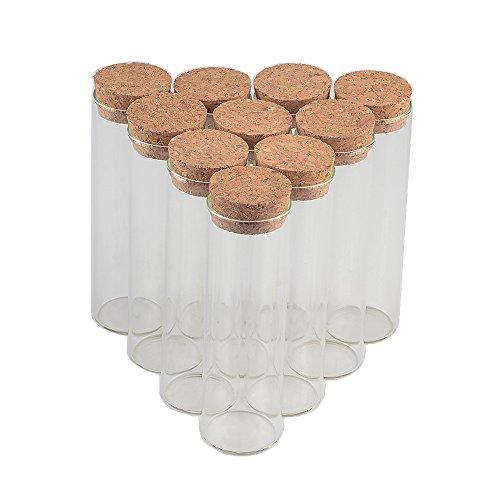 Jarvials 出品する 50個セット50ml軟木栓直口瓶 透明中性ガラス。 様々なアイテムを収納できます。 DIY祝祭日の贈り物 ベスト選択 無料配送 50, 50ml