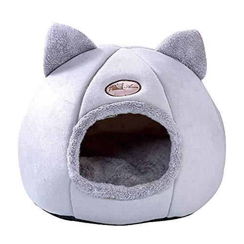 Wzryjs - Cuccia per gatti con cuscino rimovibile e lavabile, per gatti e altri animali domestici