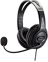 USB Headset with Microphone for CallCenter Skype Chat Computer Phone Headset Mic Noise Cancelling for Drangon Voice Recognition Speech Dictation PC Headphone with Mic Mute Volume Control