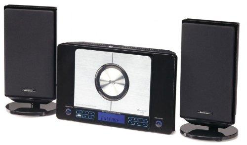 Soundmaster DISC 4220 Design-Stereo-Anlage zur Wandmontage mit Subwoofer, Encoding Funktion und RDS