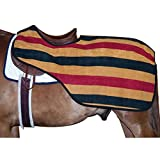 Intrepid International Quarter Sheet with Traditional Stripes, Gold/Black/Red, Medium