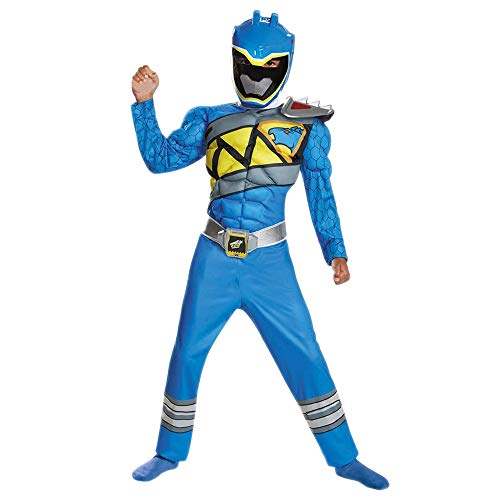 Disguise Blue Ranger Dino Charge Classic Muscle Costume, Small (4-6) by Disguise