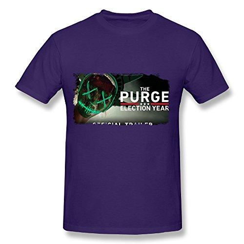 SP la Purga año de Elecciones Póster algodón T Camisa para Hombre Negro