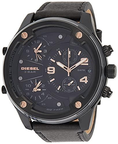 Diesel Reloj Analogico para Hombre de Cuarzo con Correa en Piel DZ7428