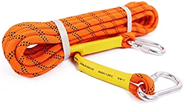 WHPSTZ Outdoor Mountaineering Rope Safety Rope Climbing Rock Climbing Rappelling Rope Climbing Rope Nylon Rope Escape Rope Equipment Rope Climbing Rope (Color : Orange, Size : 30m)