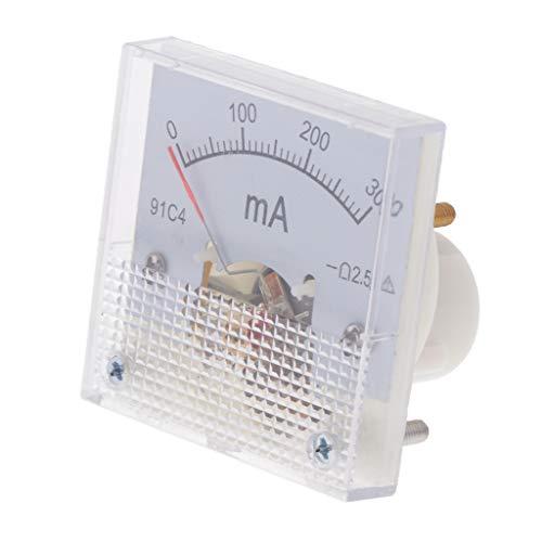 Fenteer DC Analog Amperemeter Stromanzeige - 0-300mA