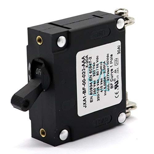 T Tocas 20A Toggle Single Pole Circuit Breakers Hydraulic Magnetic Circuit Protector AC or DC 80 V