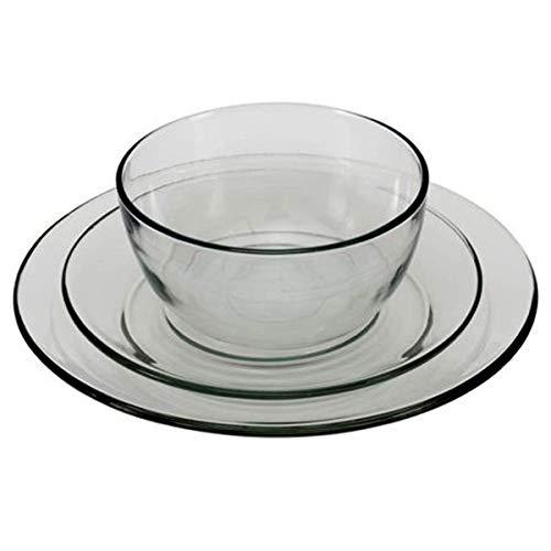 Anchor Hocking 12-Piece Presence Dinnerware Set, Clear