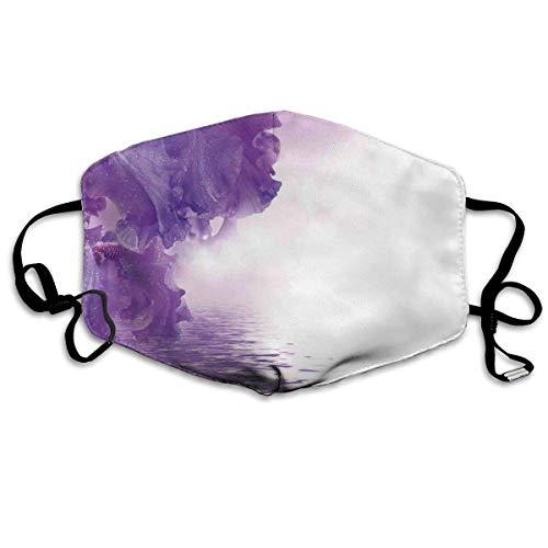 Mystical Magical Fairy Nature Image Winddicht masker, bloemenblaadjes tegen de waterstroom