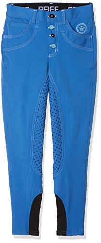PFIFF Kinder Reithose -Mabel- Grip-Besatz Besatzreithose Hose, blau, 158