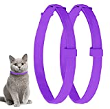 Pets vv 2 Pack Cat Flea Collar with 8 Months, Flea Collar for Cats Easy to Repels Fleas & Ticks, Safe and Effective Cat Flea and Tick Collars