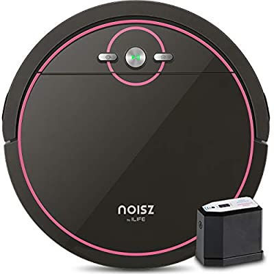 Noisz by ILIFE Noisz S5 Robot Vacuum Cleaner with MAX Mode, Tangle-free Suction Port, Virtual Barrier, Slim & Quiet, Programmable, Ideal for Hardwood