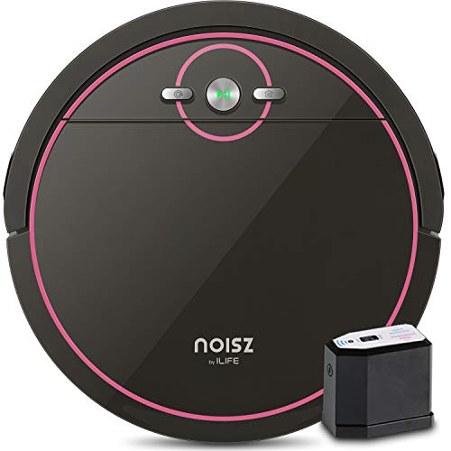 Noisz by ILIFE S5 Robot Vacuum Cleaner with MAX Mode, ElectroWall, Tangle-free Suction Port, Slim & Quiet, Automatic Self-Charging, Hard Floor and Low Pile Carpet