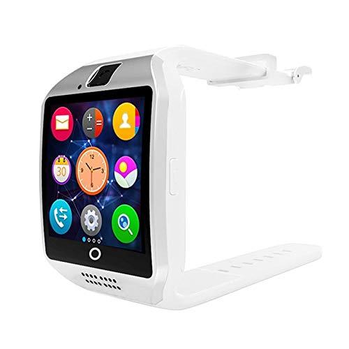 Smartwatch mit Kamera, Q18 Bluetooth Smartwatch SIM Tf Karte Slot Fitness Aktivität Tracker Sportuhr Android Weiß