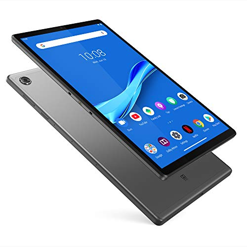 Lenovo Tab M10 Plus Tablet, 10.3' FHD Android Tablet, Octa-Core Processor, 128GB Storage, 4GB RAM, Dual Speakers, Kid Mode, Face Unlock, Android 9 Pie, ZA5T0300US, Iron Grey