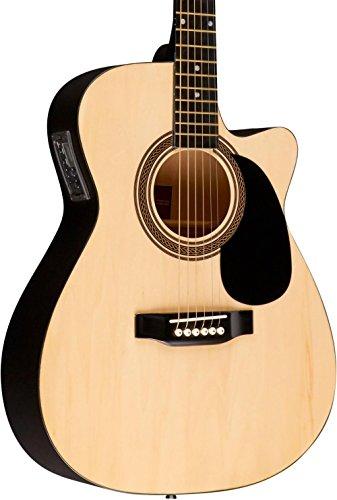 Rogue RA-090 Concert Cutaway Acoustic-Electric Guitar Natural