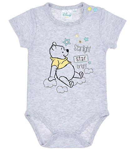 Disney Winnie the Pooh Babies Boys Body bebé - Gris - 24M