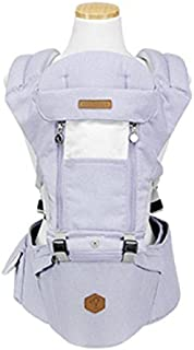 WOW BABY Outdoor Organic Cotton Front Backpack Hip Seat Sling Carrier Melange (Purple)