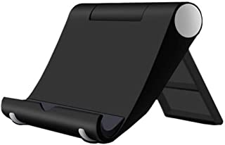 HeFuo タブレットスタンド 携帯電話スタンド 卓上 スマホホルダー 折り畳み式 卓上 スマホホルダー 角度調整可能 滑り止めゴム付き スマホやタブレットに適用