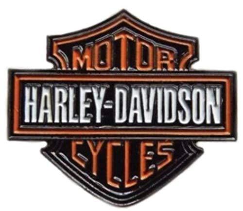 Bikers Harley Davidson Badge en métal émail Env. 35 mm x 30 mm Résistant au ternissement